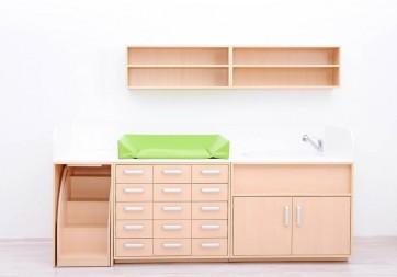 Combinaison meuble de change Set A - Avec Vasque