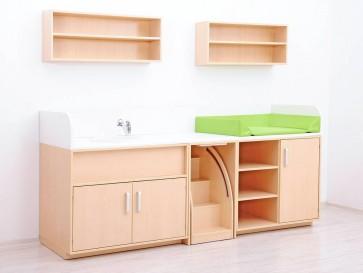 Combinaison meuble de change Set B - Avec Baignoire