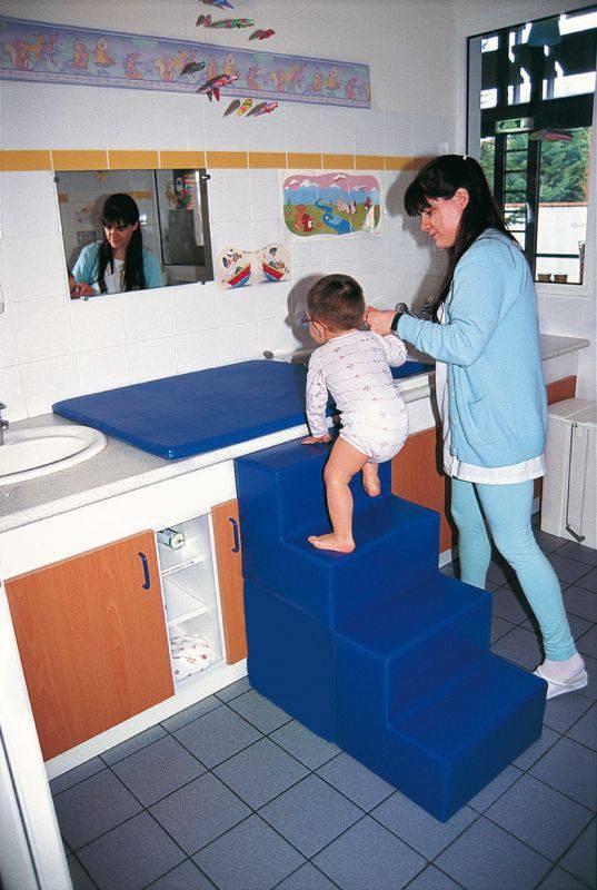 bienvenue sur le site les 3 ours escalier table de change ht 68 prof 68 cm coloris. Black Bedroom Furniture Sets. Home Design Ideas