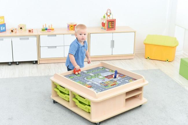 bienvenue sur le site les 3 ours table d 39 activit s roulettes. Black Bedroom Furniture Sets. Home Design Ideas