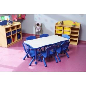 Tables rectangulaires réglables - Modèle 4 places