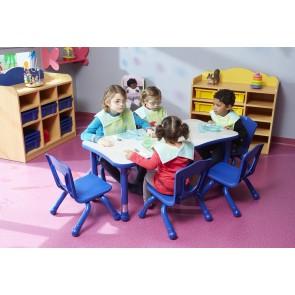 Tables rectangulaires réglables - Modèle 6 places