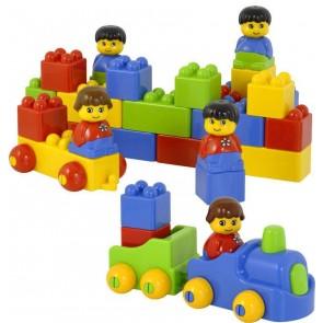 Briques avec personnages