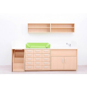 Combinaison meuble de change Set A - Avec Baignoire