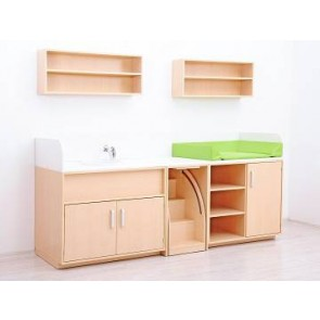 Combinaison meuble de change Set B - Avec Vasque