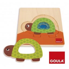 Puzzles gigognes superposables - La tortue