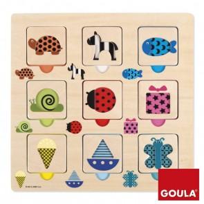Puzzle motifs transparents