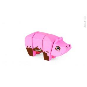 Animaux à emboîter - Le cochon