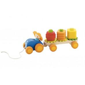 Tracteur à tirer avec formes à empiler