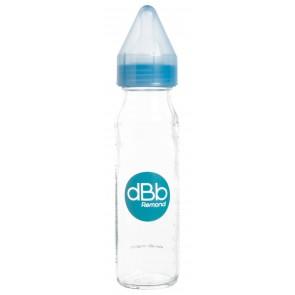 Biberon verre 240ml régul'air tétine silicone bleu translucide small-image