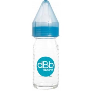 Biberon verre 110ml régul'air tétine silicone bleu trnaslucide image