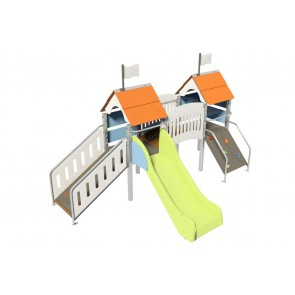 Fripounette baby-pont poly O/B pieds métal courts small-image