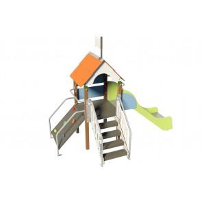Fripounette mini-grimpe  poly O/B pieds bois courts image