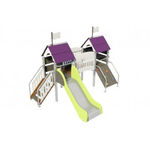 Fripounette mini-pont poly O/B pieds métal courts small-image