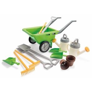 Le petit jardinier - Set 18 pièces : brouette, pelles, rateaux