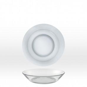 Assiette creuse en verre trempé