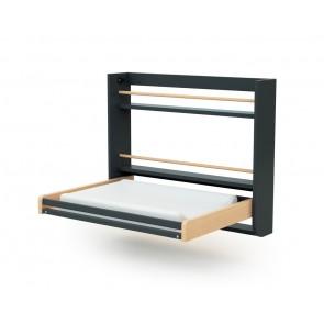 Table à langer gain de place coloris gris/naturel