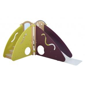 Structure Mini Escapade- Vert/Prune - en angle